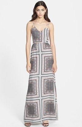 Parker 'Kisa' Print Silk Maxi Dress