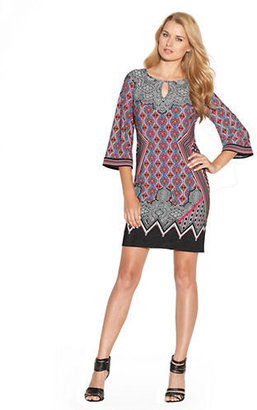 Laundry by Design Placed Print Matte Jersey Dress