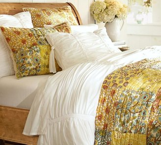 Ruby Tile Patchwork Quilt & Sham