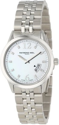 Raymond Weil Women's 5670-ST-05985 Freelancer Date Steel Mother-Of-Pearl Dial Watch