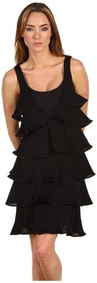 Just Cavalli Ruffle Jersey Dress (090) - Apparel
