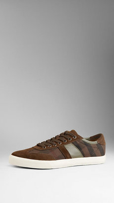 Burberry Washed Check Trainers
