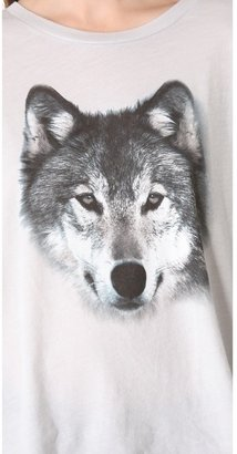 Wildfox Couture Grey Wolf Tee