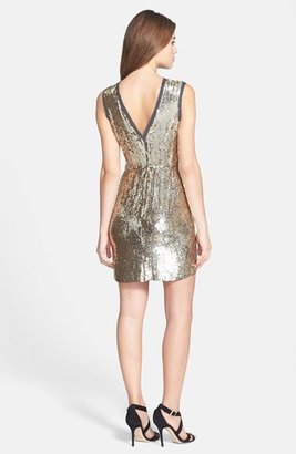 Nicole Miller Sequin Silk A-Line Dress