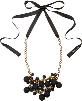 Marni Covered-bead chain and ribbon necklaces