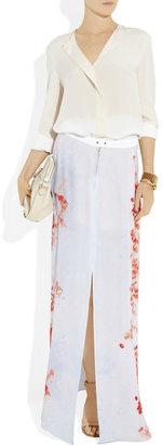 A.L.C. Allegra floral-print silk-georgette maxi skirt