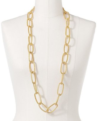 Apt. 9 gold tone mesh oval link long necklace
