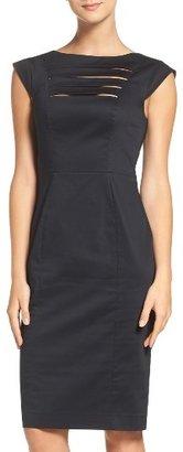 Women's French Connection 'Estelle' Cutout Cotton Blend Sheath Dress $178 thestylecure.com