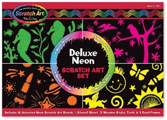 Melissa & Doug scratch art deluxe neon set