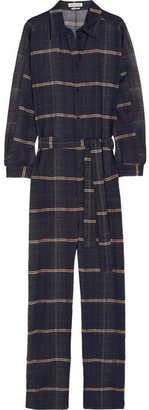 Etoile Isabel Marant Vick checked cotton-organza jumpsuit