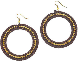 Topshop Fabric and Bead Hoops