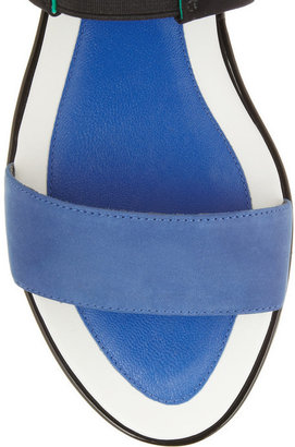 Kenzo Color-block leather and neoprene sandals