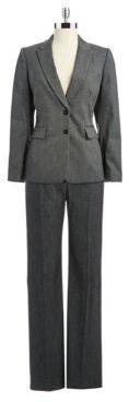 Tahari ARTHUR S. LEVINE Two-Piece Heathered Suit