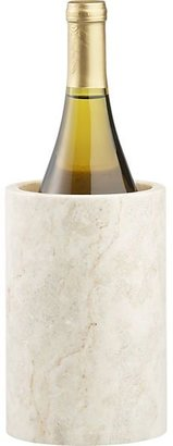 Crate & Barrel Ivory Marble Wine Cooler.