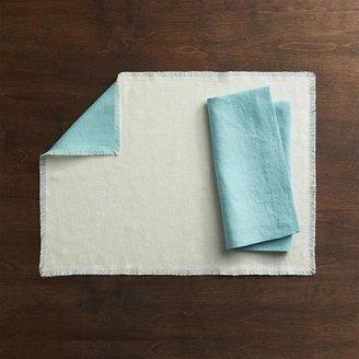 Helena Aqua-Vanilla Reversible Placemat