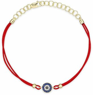 Meira T Diamond, Blue Sapphire And 14K Yellow Gold Evil Eye Bracelet