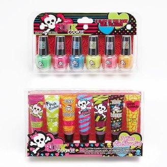 Pink Cookie lip gloss & glow-in-the-dark nail polish set