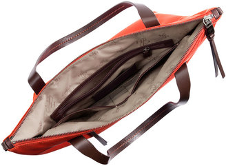 Cole Haan Parker Small Nylon Zip-Top Tote Bag, Orange