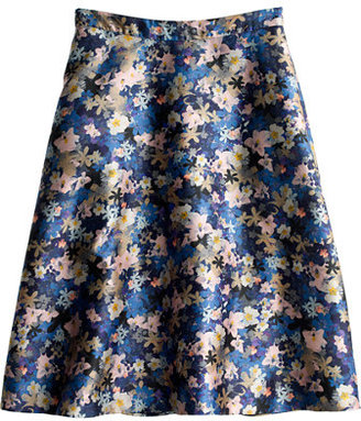 J.Crew Collection circle skirt in nightgarden floral