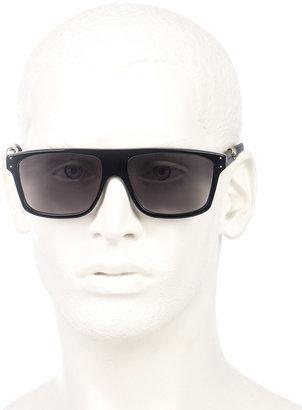 Alexander McQueen Gold skull matte sunglasses