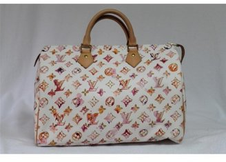Louis Vuitton pristine (PR Limited Edition Watercolor Aquarelle Speedy 35 Bag