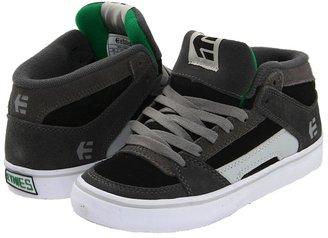 Etnies RVM Vulc (Toddler/Youth) (Black/Black/Grey) - Footwear