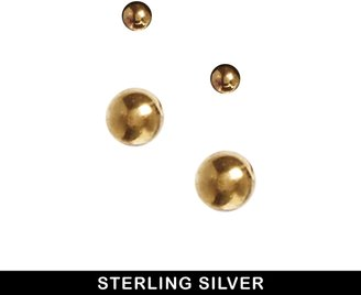 Asos Gold Plated Sterling Silver Mini earrings Pack - Gold