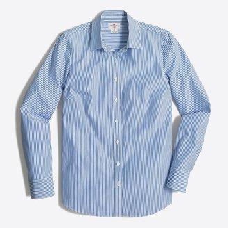 J.Crew Striped classic button-up shirt in cotton poplin