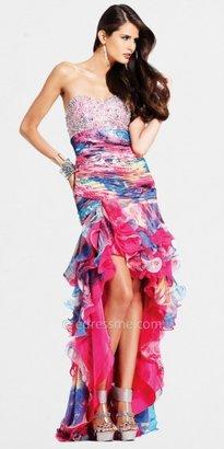 Faviana Strapless Prom Dress