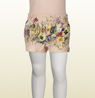 Gucci Vintage Rose Flora Infinity Degradé Print Silk Short