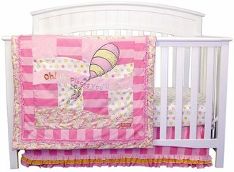 Trend Lab Dr. Seuss Oh The Places You'll Go! Pink 3-pc. Crib Bedding Set by
