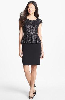 Calvin Klein Sequin Peplum Dress