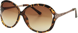 Arden B Textered Metal SIde Sunglasses