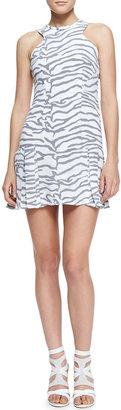Rebecca Taylor Printed Flare-Hem Dress