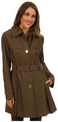 MICHAEL Michael Kors Single-Breasted Trench M720606P (Olive) - Apparel