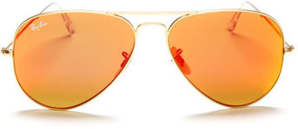 Henri Bendel Ray-Ban Aviator Metal Mirrored Sunglasses