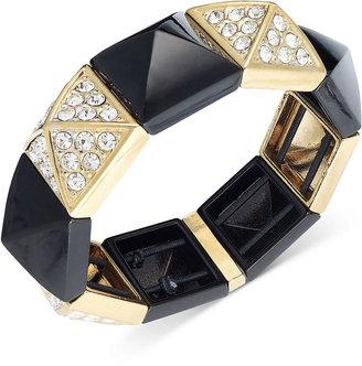 Juicy Couture Bracelet, Black Pyramid Stretch Bracelet