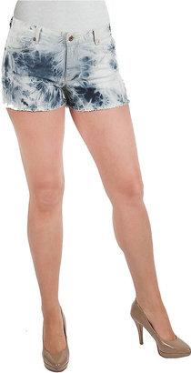 ABS by Allen Schwartz DENIM Tie-Dye Shorts