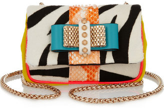 Christian Louboutin Sweety Charity calf hair and python shoulder bag