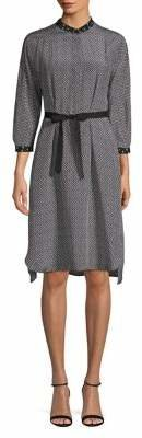 Max Mara Printed High-Low Dress