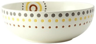 Rachael Ray 10-in. Circles and Dots Serving Bowl, White