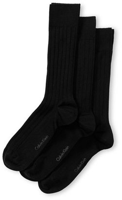 Men's Calvin Klein 3-Pack Wide Rib Socks $22 thestylecure.com