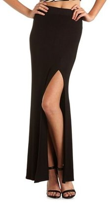 Charlotte Russe Single Side Slit Maxi Skirt