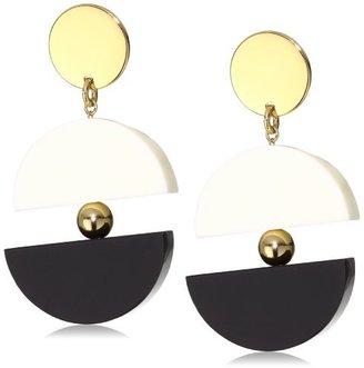 Kate Spade Double Exposure White and Black Drop Earrings