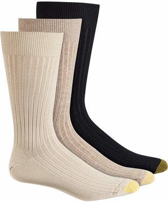 Gold Toe Adc Canterbury 3 Pack Crew Dress Men Socks