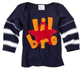 Infant Boys Navy Long-Sleeve Lil' Bro Tee by Morfs