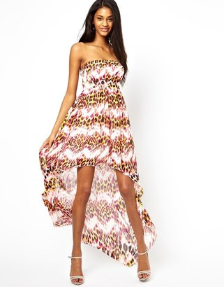 Lipsy Strapless Maxi Dress With Dipped Hem