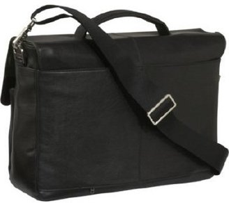 "Knomo Jackson 15"" Leather Laptop Bri"