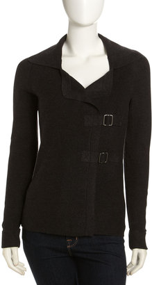Isda & Co Buckled Cardigan, Charcoal