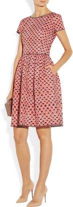 Oscar de la Renta Printed cotton-blend dress